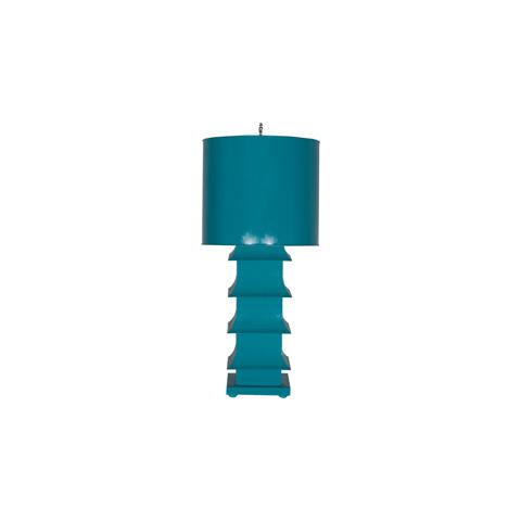 Worlds Away - Turquoise Pagoda Lamp - LMPHL-TU