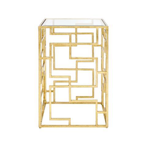 Worlds Away - Gold Leaf Oriental Side Table - NIKKO G