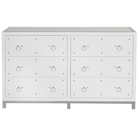 Worlds Away - White Lacquer Buffet - STUDLY DRW