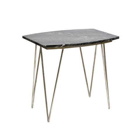 Worlds Away - Silver Leaf Side Table - SUZY SB