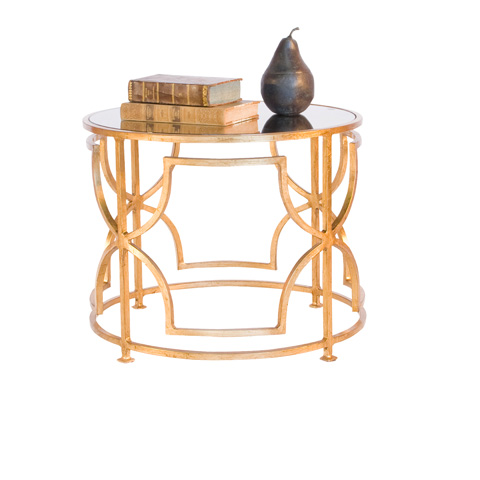 Worlds Away - Gold Leaf Cocktail Table - TESS G