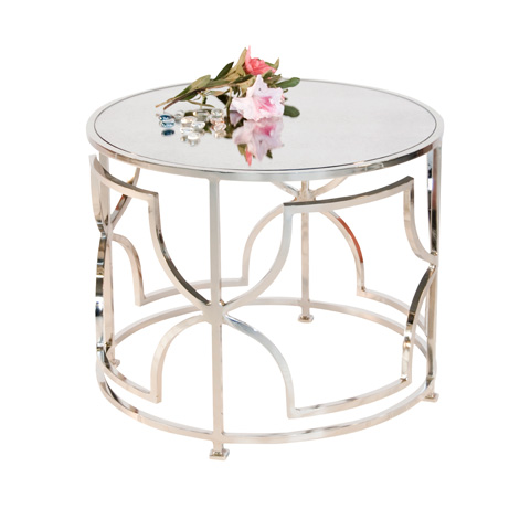 Worlds Away - Nickel Plated Cocktail Table - TESS N
