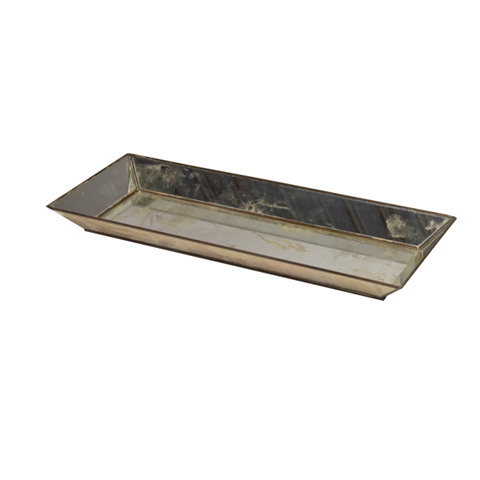 Worlds Away - Rectangular Antique Mirror Tray - TRAY AMR