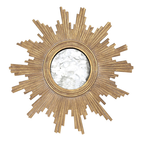 Worlds Away - Gold Leaf Handcarved Mirror - VERSAILLES G