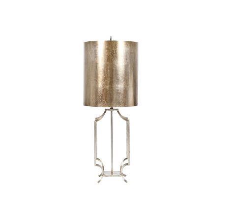 Worlds Away - Silver Leaf Iron Lamp - WINDHAM S