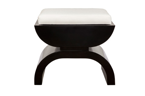 Worlds Away - Black Lacquer Stool - BIGGS BL