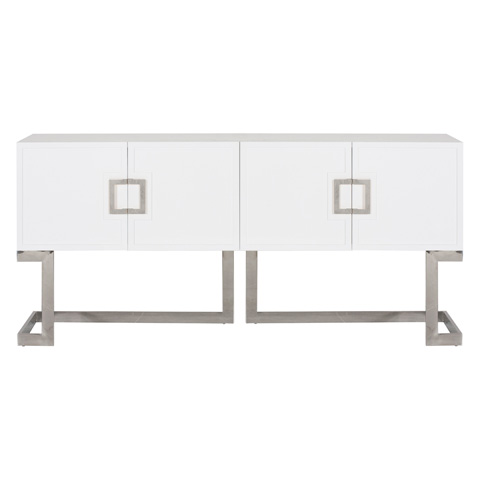 Worlds Away - White Lacquer Media Console - BRAXTON WHSS