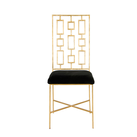 Worlds Away - Gold Leaf Dining Chair - DAVID GBLACK