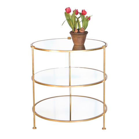 Worlds Away - 3-Tier Gold Leaf Table - FN3TGM