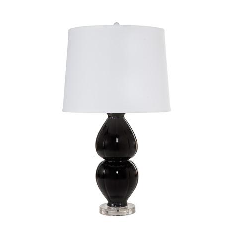 Worlds Away - Black Ceramic Lamp - JULIA BL