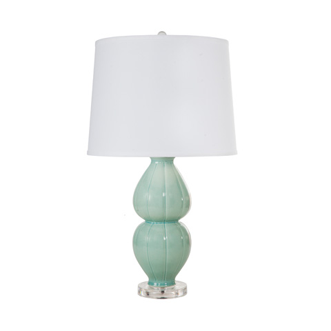 Worlds Away - Sea Foam Ceramic Lamp - JULIA SF