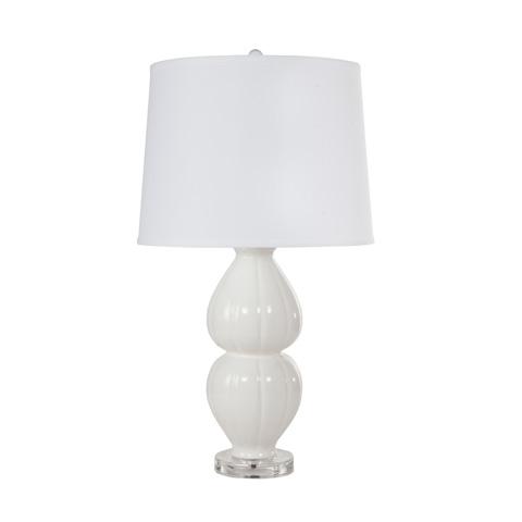 Worlds Away - White Ceramic Lamp - JULIA WH