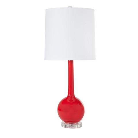 Worlds Away - Red Ceramic Lamp - LYDIA RD