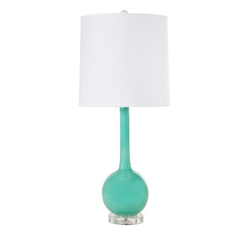 Worlds Away - Turquoise Ceramic Lamp - LYDIA TURQ