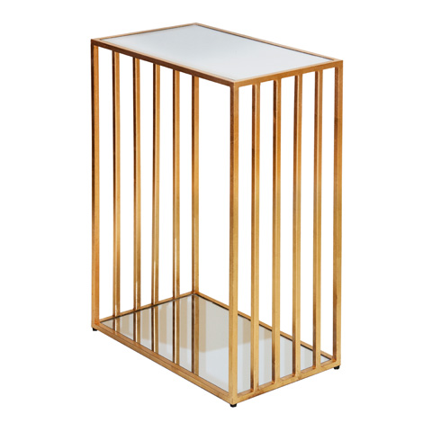 Worlds Away - Gold Leaf Rectangular Iron Table - MARCO G