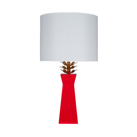 Worlds Away - Red Lacquer Lamp - MORGAN RD