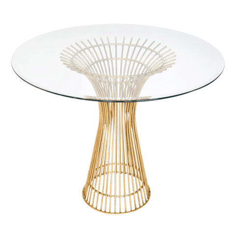 Worlds Away - Gold Leaf Iron Table - POWELL 30