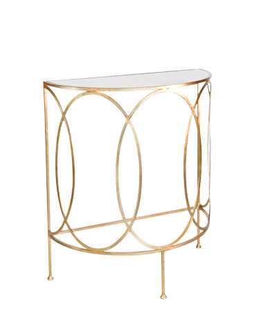 Worlds Away - Gold Leaf Console Table - ANTOINE G