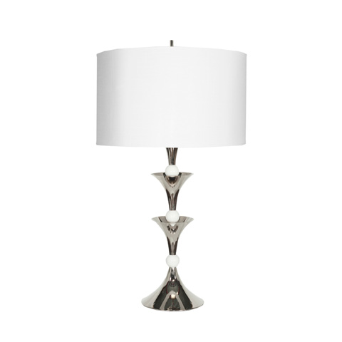 Worlds Away - Nickel and Marble Table Lamp - COLBY N