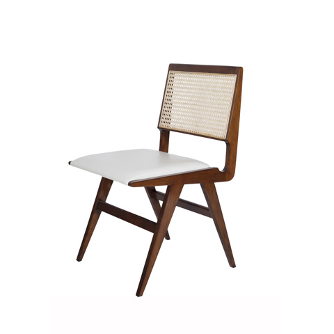 Worlds Away - Cane Back Wood Dining Chair - FELIX