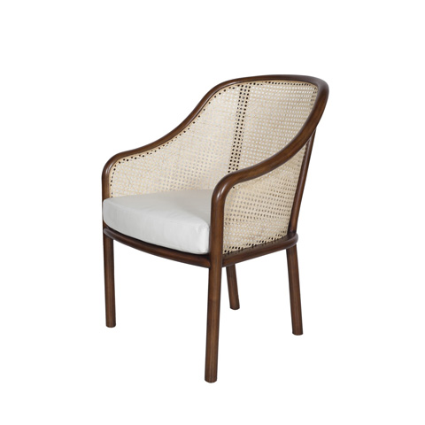 Worlds Away - Cane and Wood Occasional Chair - KATHERINE
