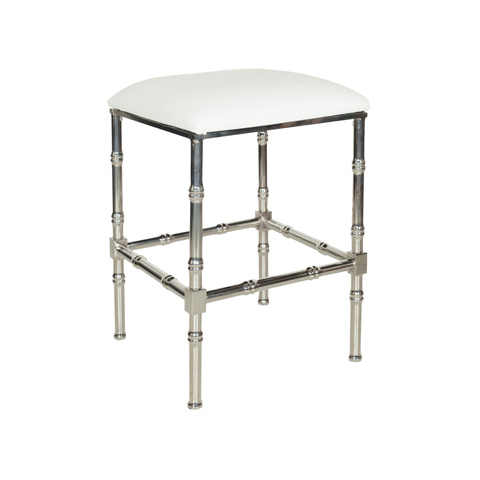 Worlds Away - Nickel Bamboo Counter Stool - SADLER NWH