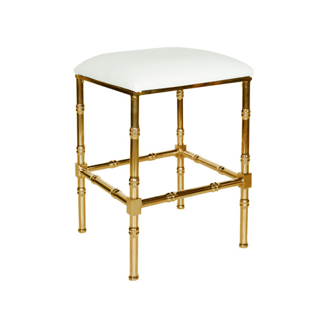 Worlds Away - Brass Bamboo Counter Stool - SADLER WH