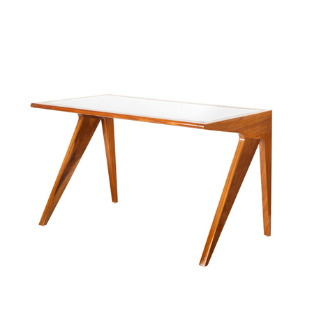 Worlds Away - Rosewood Mid Century Style Desk - STERLING